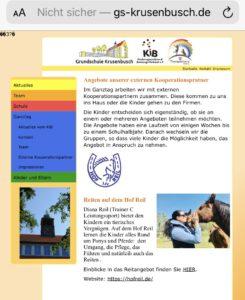 Grundschule Krusenbusch REiten lernen Hof Reil